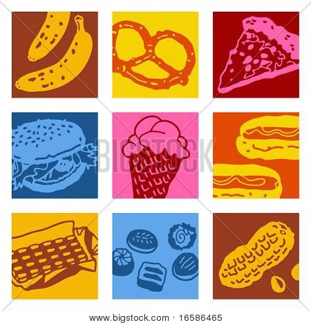 pop-art objects - food