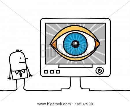 computer & big eye