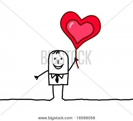 man & heart