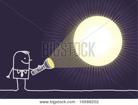 Mann & leere Licht