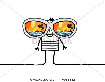 man with big sunglasses