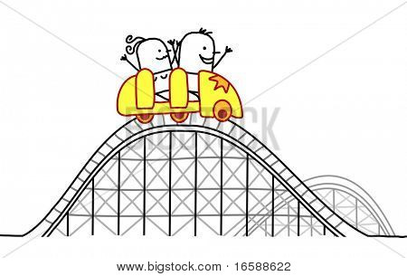 couple on roller coaster