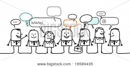 business people & social network