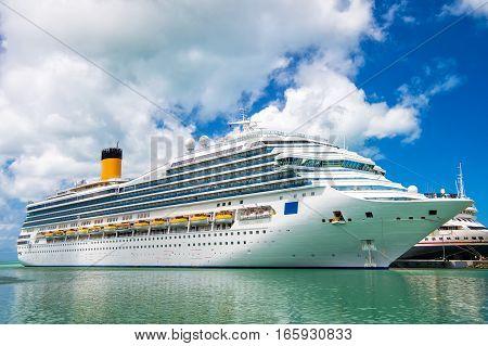Big Cruise Ship Disney Wonder
