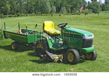 Mower On Golf Course