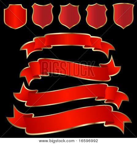 golden shield and ribbon