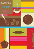 stock photo of cake-mixer  - coffee shop menu design - JPG