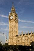 stock photo of big-ben  - Houses of parliament and Big Ben in London - JPG