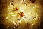 Floral vintage wallpaper and background