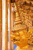 pic of glorify  - Golden Garuda face decoration in The temple of Emerald Buddha - JPG