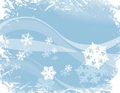 stock photo of ice crystal  - decorative design with snowflakes - JPG
