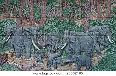 Elephant Thai Stucco