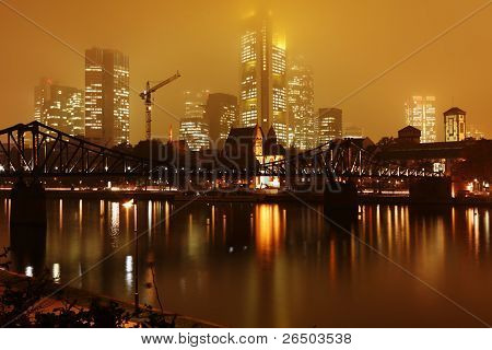 Skyline Frankfurt am Main in Germany.