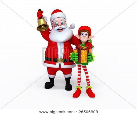 Santa Claus with Elves.