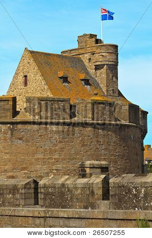 St. Malo Hotel De Ville, Tower And Fortifications, Brittany, France