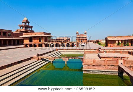 Fatehpur Sikri, India. It Is A City In Agra District In India. It Was Built By The Great Mughal Empe