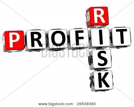 3D Profit Risk Crossword