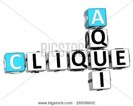 3D Clique Aqui Crossword