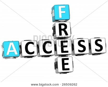 3D Free Access Crossword