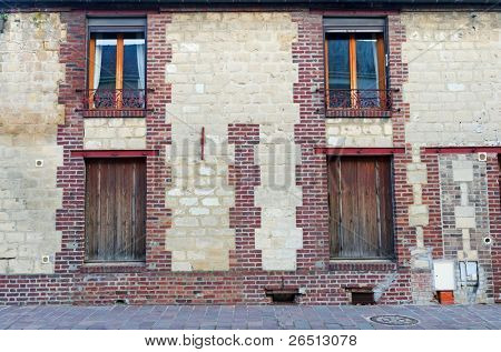 Typical french house, close up