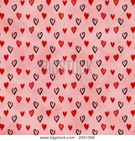 Pink Hearts Love Valentine Background