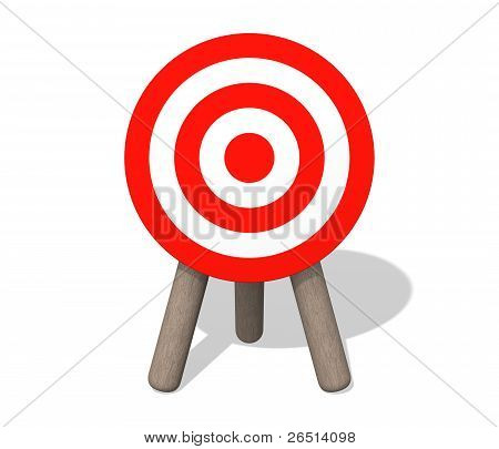 Target Board On The White Background