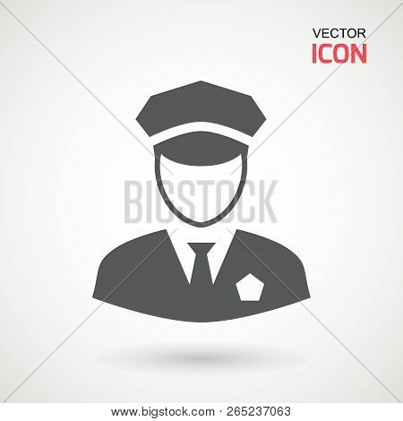 Police Icon Vector Policeman Officer