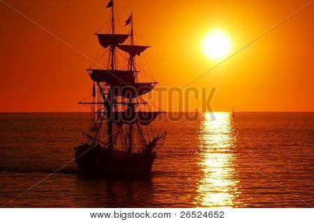 Lady Washington at Sunset
