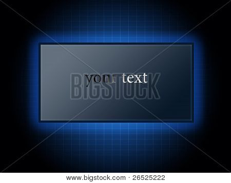 Modern Digital Background In Blue With A Blank Billboard