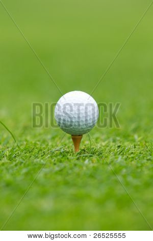 Golf Ball On Tee