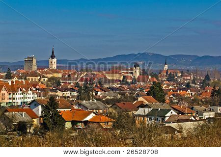 Historic Town Of Krizevci Panoramic Cityscape