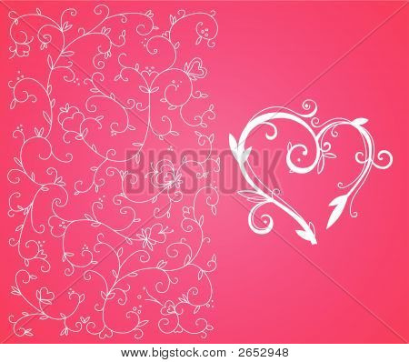Valentine Heart And Background