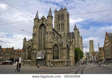 Reconstruction of Sint-Niklaaskerk in Ghent City