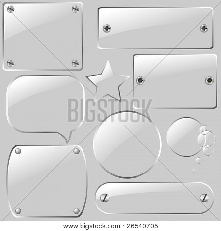 Glass Framework Set, Vector Illustration