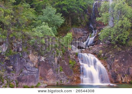 Waterfall in Geres National Park (north of Portugal)