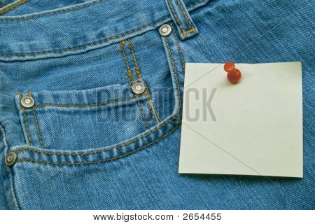 Post Note On Denim