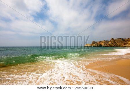 Beach of praia da Marinha in Algarve, south of Portugal