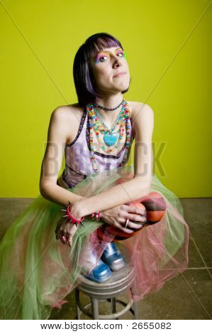 Colorful Punk Woman