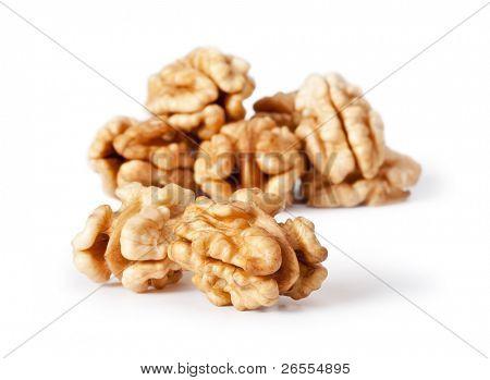 walnut isolated on the white background