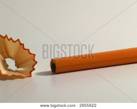 Unsharpened Pencil With Shavings