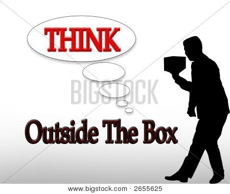 Business Slogan Think Outside The Box