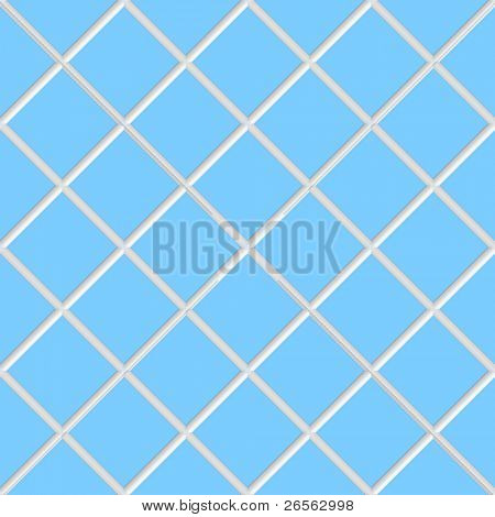 Diagonal blue square seamless  ceramic tiles texture