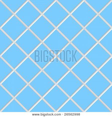 Diagonal blue square seamless  ceramic tiles texture