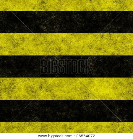 Yellow and black horizontal hazard stripes seamless texture