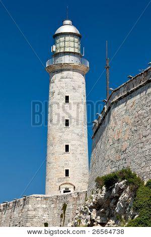 Fortress of El Morro in Havana, Cuba in a beautiful day