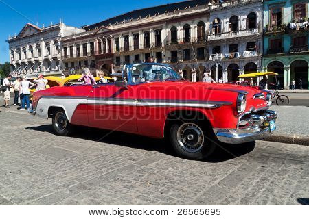 HAVANA-NOVEMBER 30:American classic car November 30, 2010 in Havana.Cubans ,unable to buy newer models,keep thousands of them running despite the fact that parts have not been produced for decades