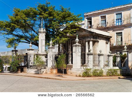 El Templete, the ancient building that was the foundation site of Havana