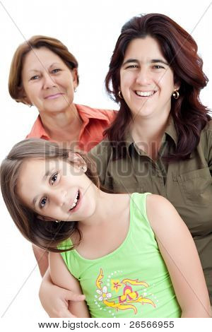 Three generations of hispanic women