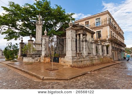 El Templete in Old Havana. This is a neoclassic building and the place where the foundation of the town of San Cristóbal de la Habana was celebrated in 1519