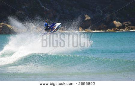 Jetski Stunt Jumps Wave